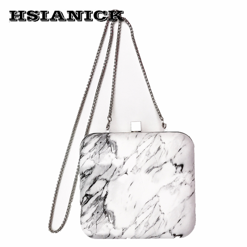 2017 Limited Stone Day Clutches New Style Square Box Handbag Marble Pattern Shoulder Bag Messenger Handbags Prom Evening Clutch silver metal lady fashion evening bag silver stylish day clutches prom ladies handbag yls g74