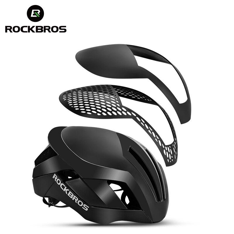 ROCKBROS 3 dans 1 vélo casque vtt route casques de vélo pour hommes EPS réfléchissant intégrante-fonte pneumatique vélo lumière casques de sécurité