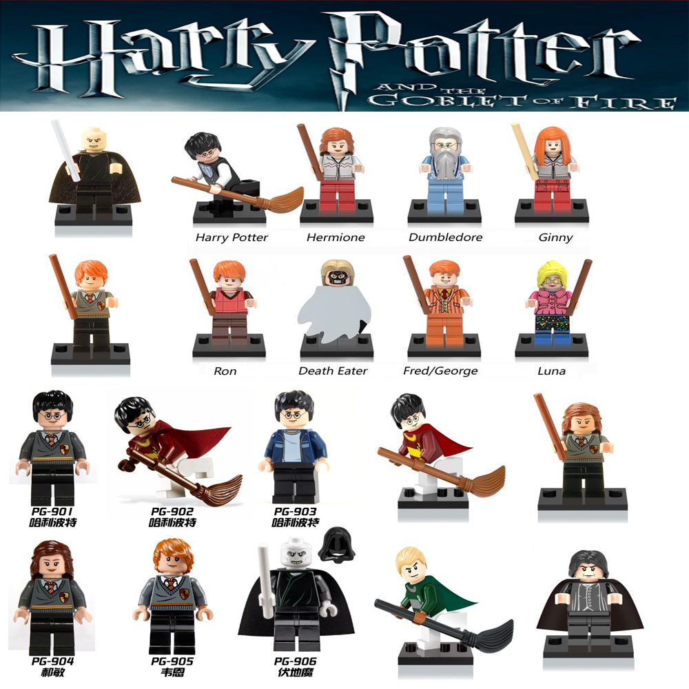 Harry Potter Single Sale Action Figures Hermione Granger Ron Lord Voldemort legoings Draco Malfoy Blocks Gift