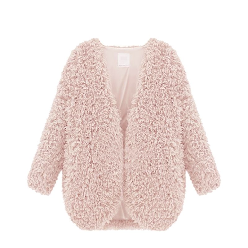 Womens New Warm Fluffy Shaggy Faux Fur Cape Coat Jacket Winter Outwear Cardigan Tops