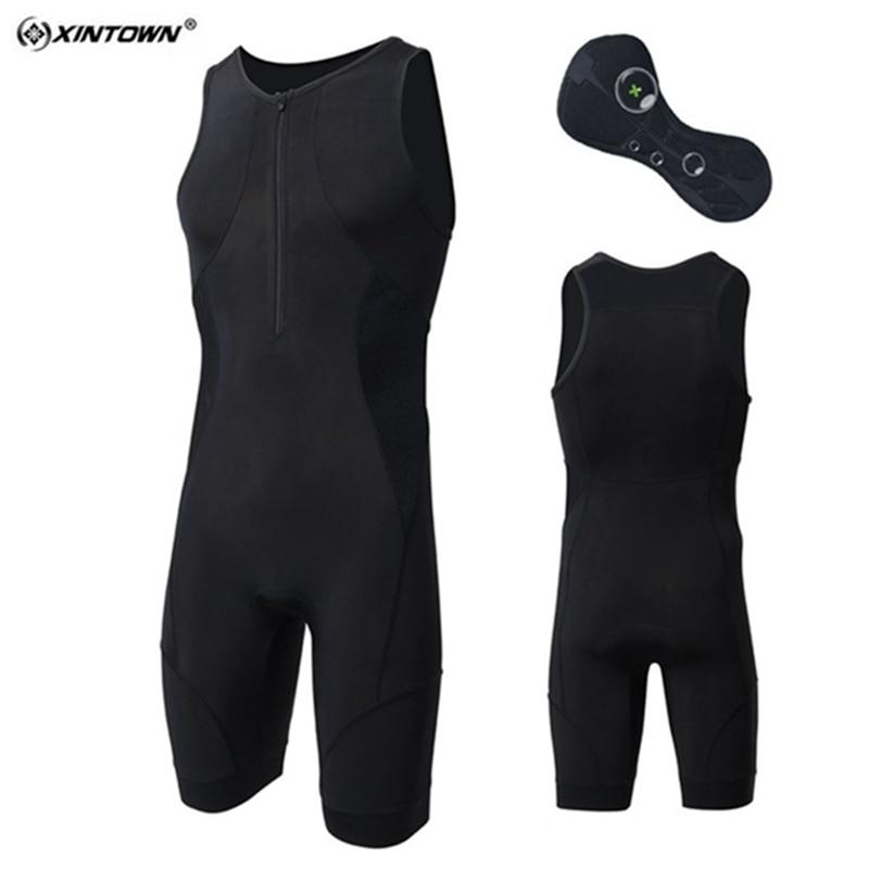 XINTOWN hommes Triathlon vêtements élastique cyclisme Jersey noir serré costume Sports de plein air vélo natation course Triathlon gainelon