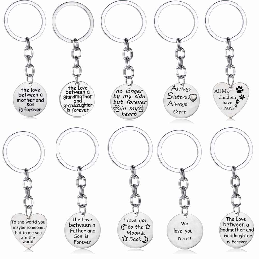 Gifts For Her Mom Mum Sister Daughter Family Presents Keychain Keyring Charm Mothers Day Fathers