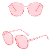 ASOUZ 2019 new fashion ladies sunglasses transparent crystal color UV400 oval mens glasses classic retro brand design goggles