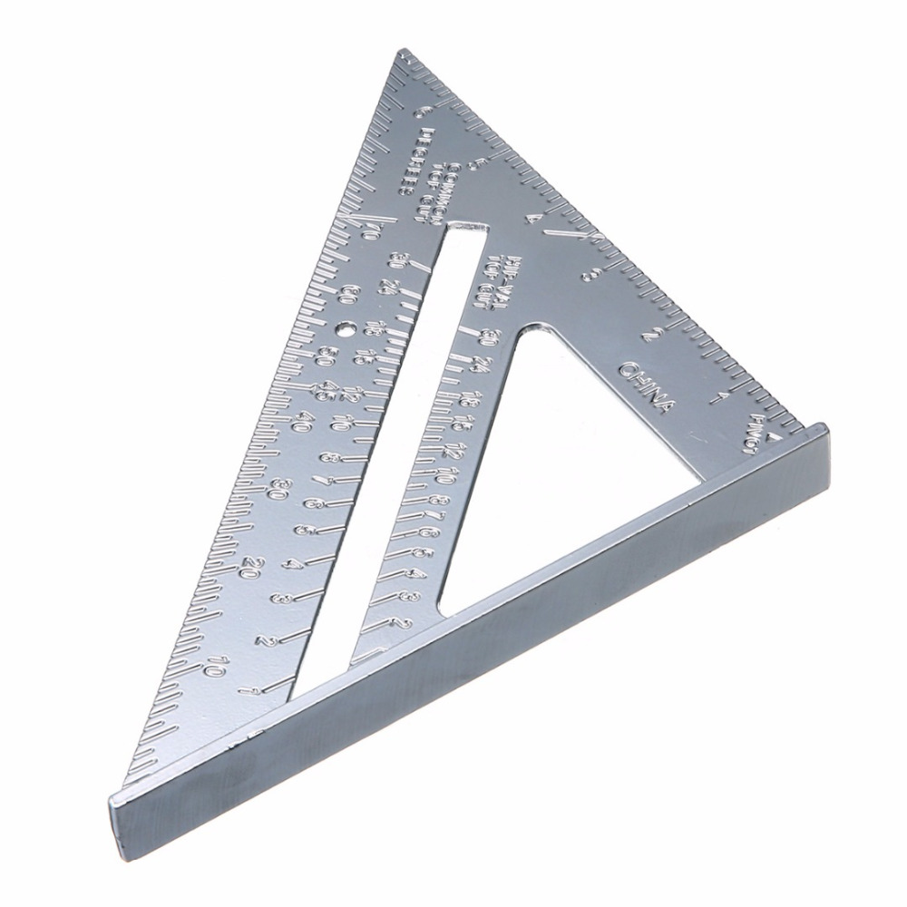 7 inch Aluminum Triangle Ruler Roofing Rafter Square Triangle Ruler Protractor For Woodworking Measuring Tool