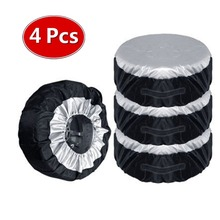 4PCS Tire Cover Case Winter and Summer Car Spare Tire Cover Storage Bags Carry Tote Polyester Tire Wheel Protection Covers