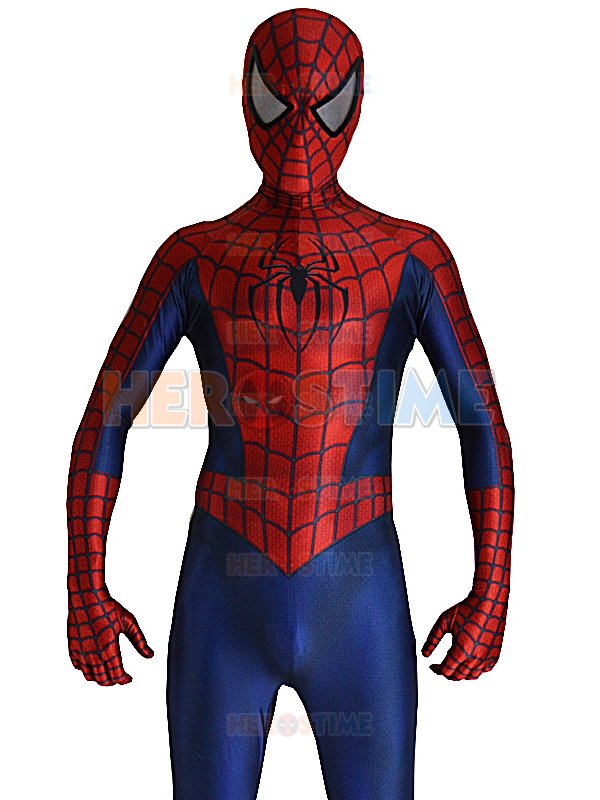 Raimi Spiderman Costume 3D Printed Lycra Fullbody Spider-man - Kostum karnival