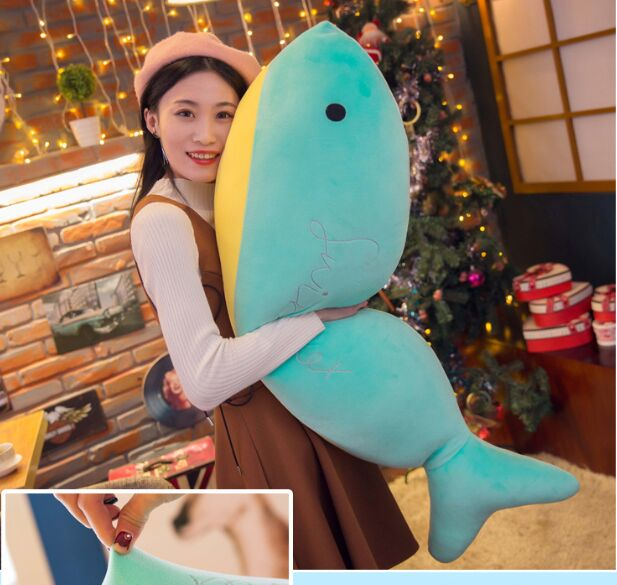 new style huge 110cm cartoon fish whale plush toy down cotton soft doll zipper closure hugging pillow Christmas gift b2922new style huge 110cm cartoon fish whale plush toy down cotton soft doll zipper closure hugging pillow Christmas gift b2922