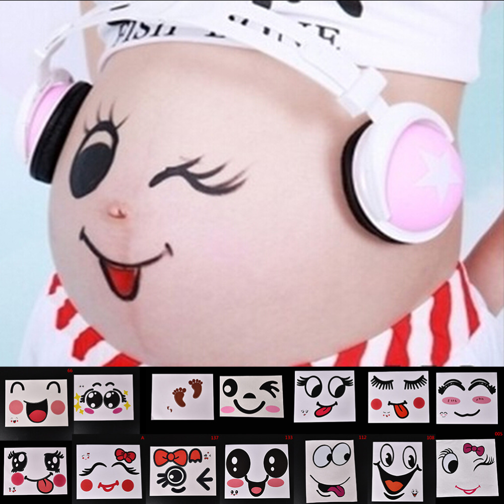 JETTING For Pregnant Women Temporary Tattoo Therapy Maternity Photo Props Pregnancy Photographs Belly Painting Photo Stickers