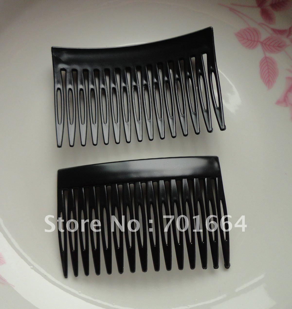 20 шт. 15 зубы 4,5 см* 7,0 см черного цвета Пластик гребень для волос для diy аксессуары для волос, гребни для волос, стороны расчески Сделка для сыпучих