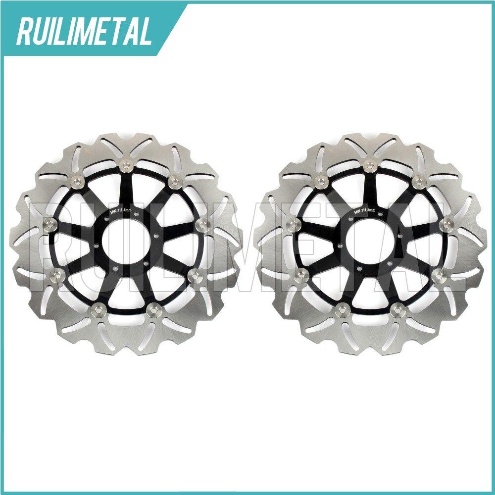 Pair Front Brake Discs Disks Rotors for Honda CB 600 F HORNET / S / F2 F1 F2 F3 F4 F5 F6 01 02 03 04 05 06 New mf2300 f2
