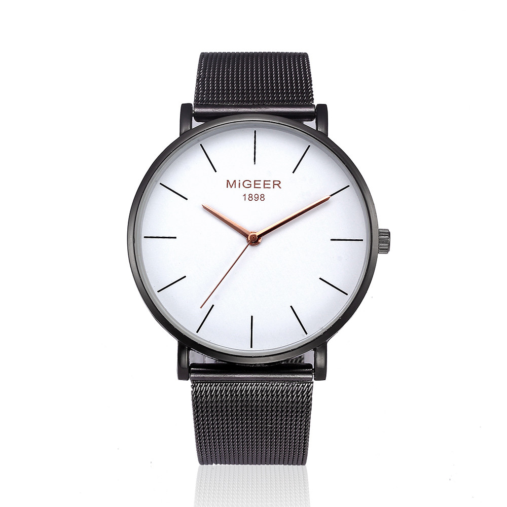MIGEER Elegant Ladies Mesh Band Wrist Watches Women Simple Design Stainless Steel Analog Quartz Watch Female Clock Relogio #LH mjartoria ladies watches clock women quartz watch simple sport bracelet watch student girl female hand wrist watches for women