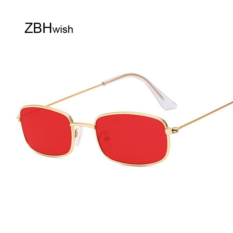 Cute Sexy Rectangle Sunglasses Women Retro Small Black Red Pink Cateye Sun Glasses Female Vintage Shades For Women