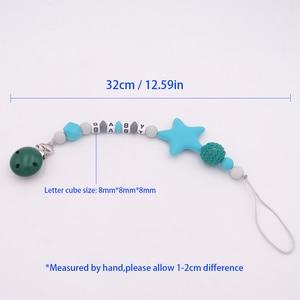 Image 5 - Pinzas para chupete con letras personalizadas de silicona, divertidas, para alimentar a niños, juguetes para masticar, sin BPA