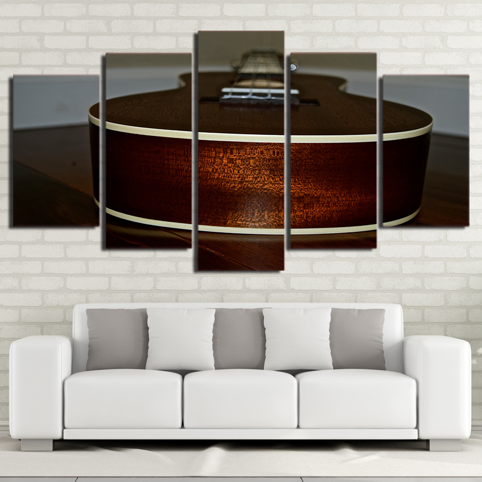 buy canvas hd printed wall art pictures home decor modern 5 panel musical. Black Bedroom Furniture Sets. Home Design Ideas