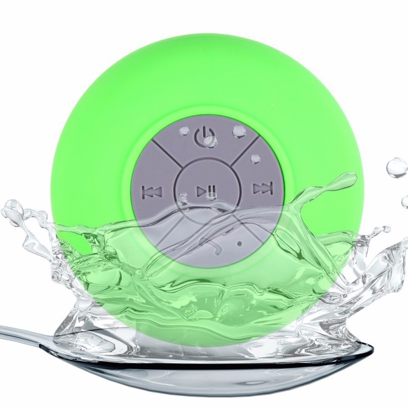 FineFun Original Bluetooth Portable Waterproof Wireless mini Speaker for Shower Music LED flashing Column with Sucker