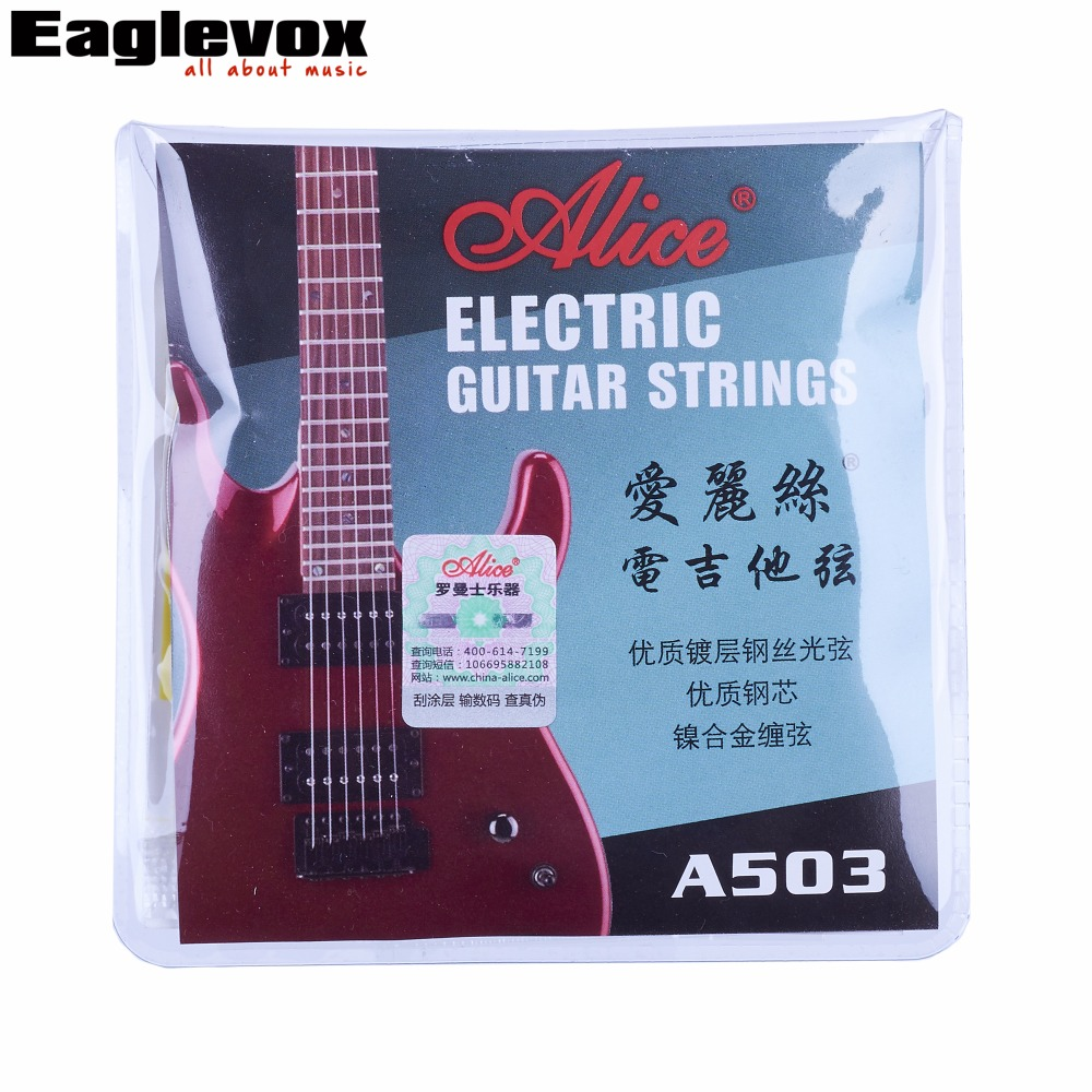 Electric Guitar Strings Plated Steel Coated Nickel Alloy Wound 009 010 Alice A503 amola electric guitar strings set 010 009 nickel alloy regular light gauge 009 042 010 046 electric guitar strings 6strings set
