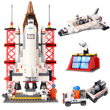 ФОТО 560pcs Ausini 25086 Space Shuttle Launching Base Ausini Building Blocks Educational Bricks Hot Toys Compatible With Legoe