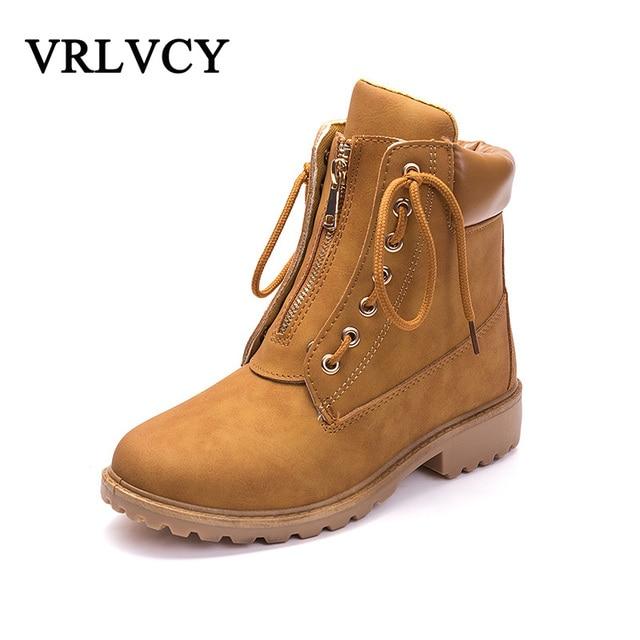 0c4dafdc22c 2018 otoño y el invierno impermeable Martin botas de las mujeres dos  vistiendo botas planos ocasionales