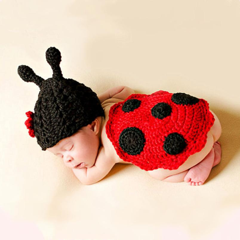 Newborn Baby Baby Girl Clothing Hat+shawl Newborn Baby Cute Insects Knit Crochet Clothes Costume Photo Photography Props Outfits