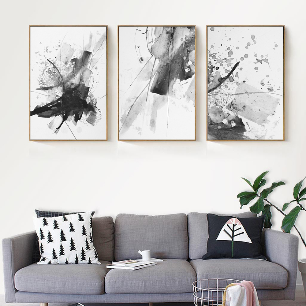 Abstract Chinese Ink Splash Canvas Art Poster Print Wall Picture Painting No Frame Vintage Retro Living