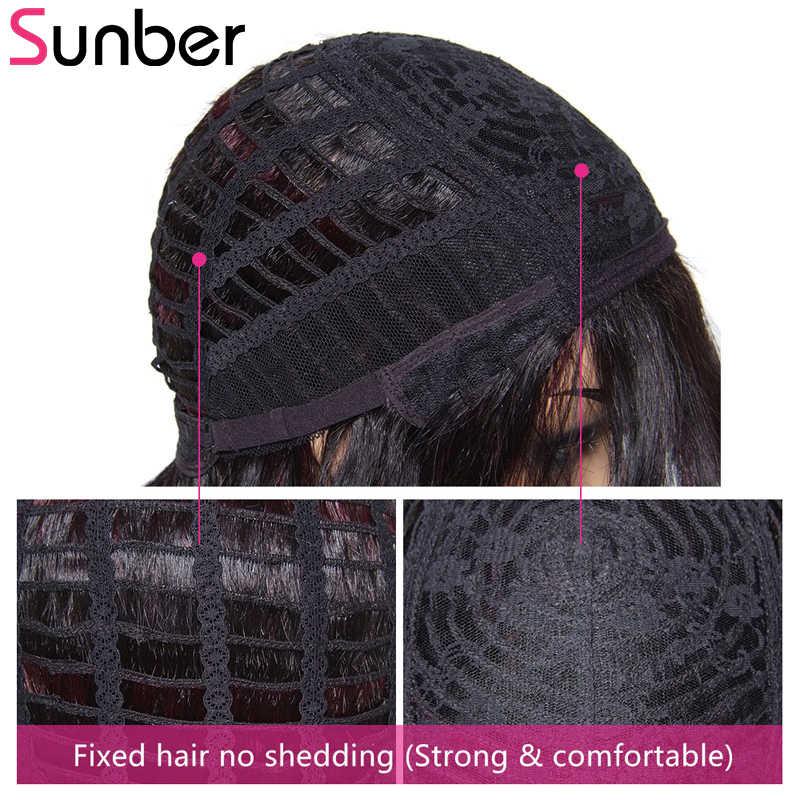 Sunber pelo brasileño Afro Jerry Pelo Rizado peluca Bob corto cabello humano Remy Wigs8 pulgadas color Natural disponible