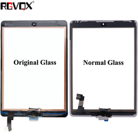 RLGVQDX For iPad Air 2 For iPad 6 Touch Screen Glass A1567 A1566 with Home Button and Adhesive Front Digitizer Replacement TP IC