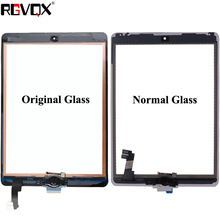 RLGVQDX For iPad Air 2 For iPad 6 Touch Screen Glass A1567 A1566 with Home Button and Adhesive Front Digitizer Replacement TP IC все цены