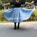 Yuppies Fashion Polka Dot Full Skirts1950s Vintage Women Skirt High Waist Midi Pleated Skirt Plus Size faldas saia jupe