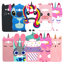 For Samsung Galaxy J5 2016 Case Cover 3D Cartoon Cute Unicorn Soft Silicone Phone Cases J510F J510H