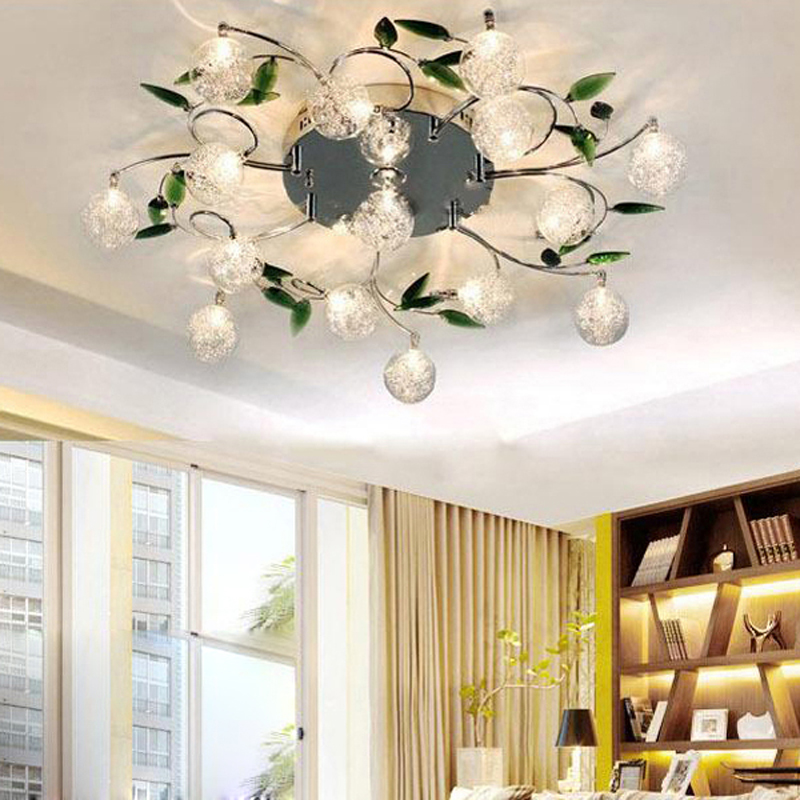 6 10 15 Lights Crystal Chandelier Modern For Living Room Bedroom And Chrome Flushmount In Ceiling From Lighting On