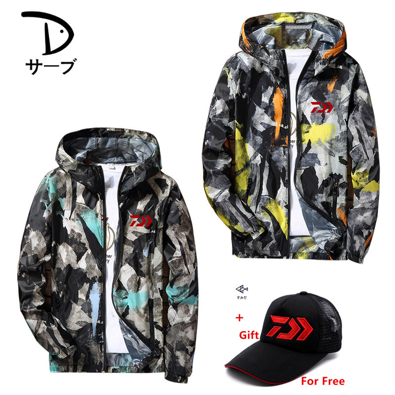 Daiwa Fishing Jackets Men And Women Skin Clothing For Summer Light And Thin Breathable Quick Dry