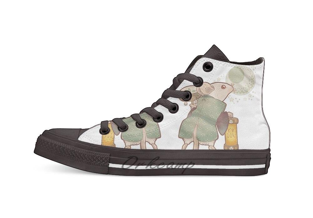 Японские животные NEZUMI Новый Дизайн Повседневная парусиновая обувь на заказ Прямая доставка
