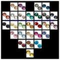 Ss6 DMC Hotfix Strass 25 Cores 250 Pacote Bruto Separadamente 36000 pcs Apoio Cola Ferro Em Pedras De Vidro DIY Craft decoração