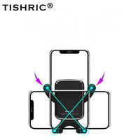 TISHRIC Cell Moile Phone Holder in Car Gravity Stand Air Vent Gps 360 Flexible Universal Mount Bracket No Magntic For iPhone xs