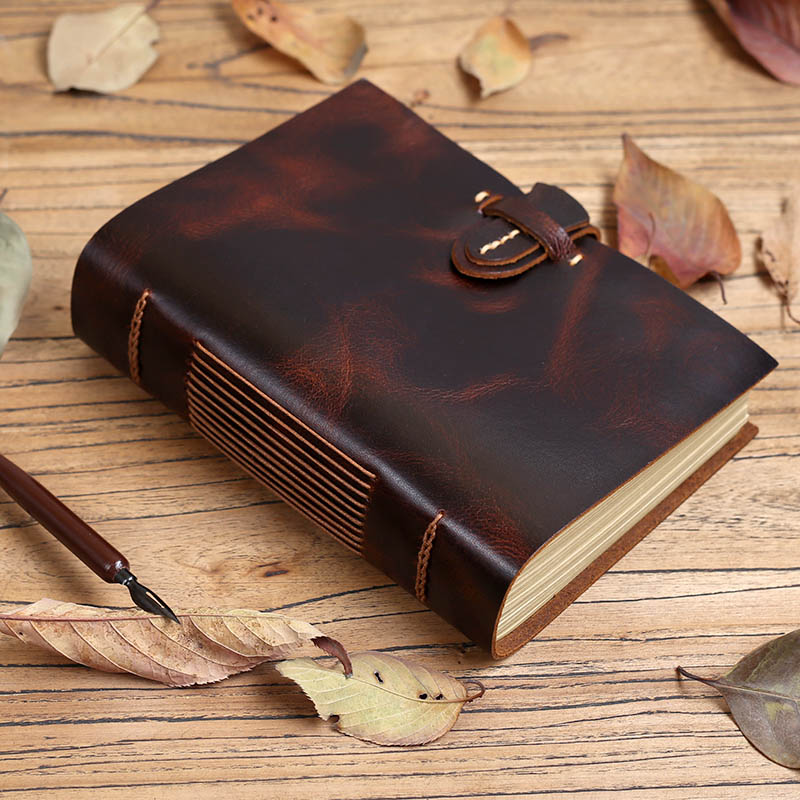 Handmade Vintage Leather Stictching Notebook, Very Thick Journal Traveler Diary DIY Photo Album, Couple Gifts Boyfriend фотоальбом diy photo album diy handmade 10 foto 120 2015 bbxc0092