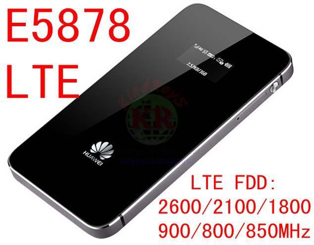 купить unlocked Huawei E5878 lte 4g router 150Mbps E5878s-32 4g LTE FDD all frequency 4g lte MiFi dongle e5878-32 mobile wifi device