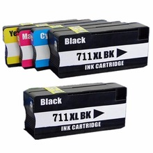 5 упак. 711 XL 711XL картриджи Замена для hp 711 hp 711XL Designjet T120 24/T120 610 /T520 24/T520 36/T520 610 принтера