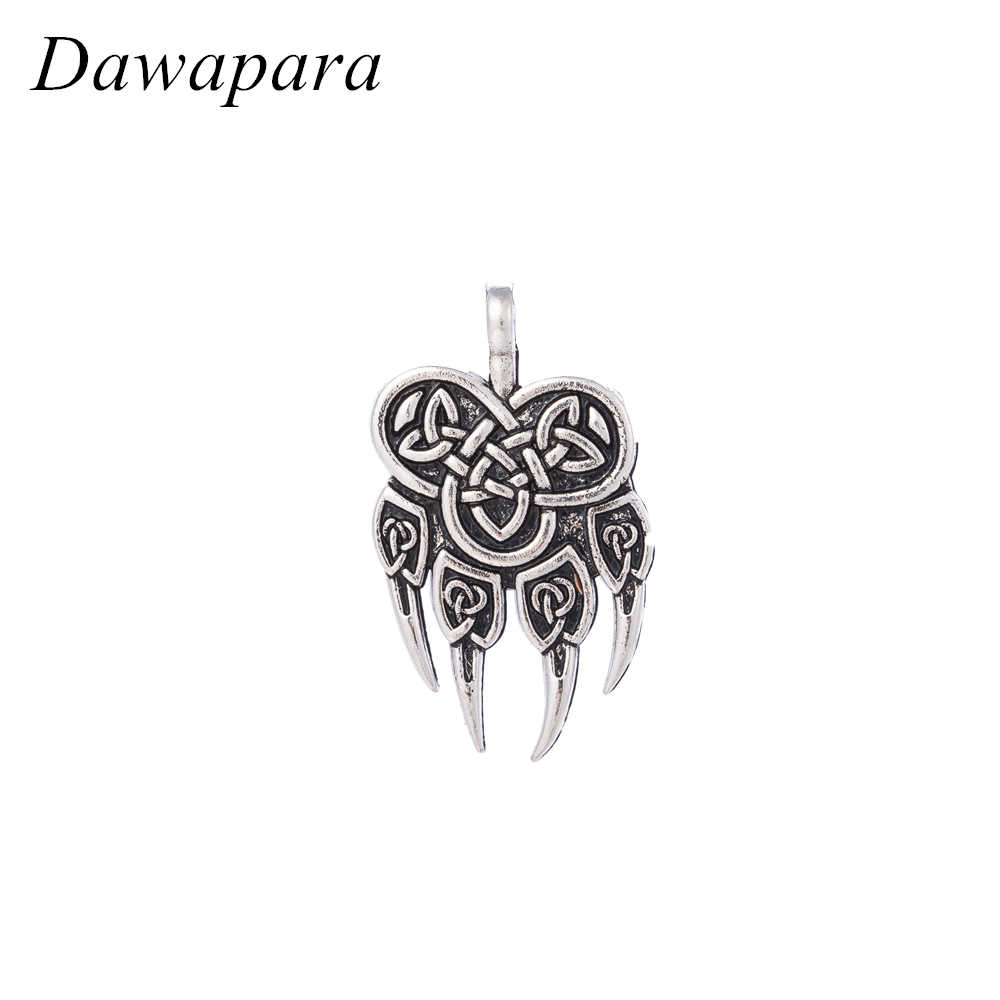 Dawapara Warding Bear Paw Slavic Pendants Classic Necklaces Accessories  Men & Women Amulet Viking Jewelry DIY Charms