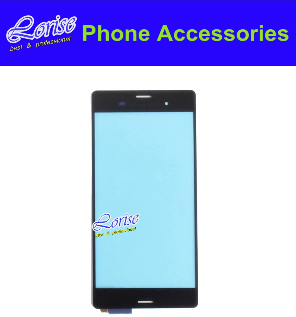 Black Original For For Sony xperia Z3 L55t D6603 D6653 Touch Screen Digitizer Glass Panel Lens