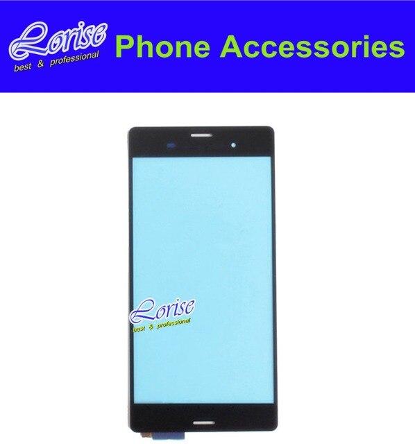 Preto Original para Sony xperia Z3 L55t D6603 D6653 tela de toque digitador painel lente de vidro
