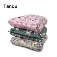 TANQU New Colorful Waterproof Inner Lining Insert Zipper Pocket For Mini Obag Canvas Inner Pocket For