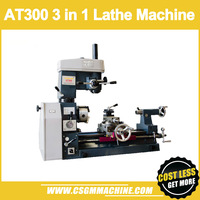 AT 300 3 in 1 multifunction lathe machin/3 in 1 lathe machine/Drill and Mill Machine/500mm working length lathe/550W motor