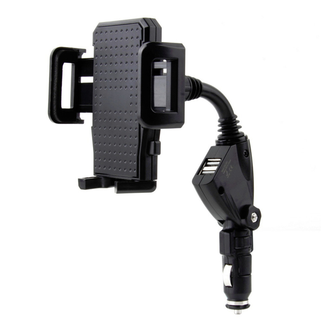 Universal 2 Port Car Charger Adapter Charging Mount Car Phone Holder Stand For Xiaomi redmi note 2 3 mi4 mi5 huawei lenovo HTC