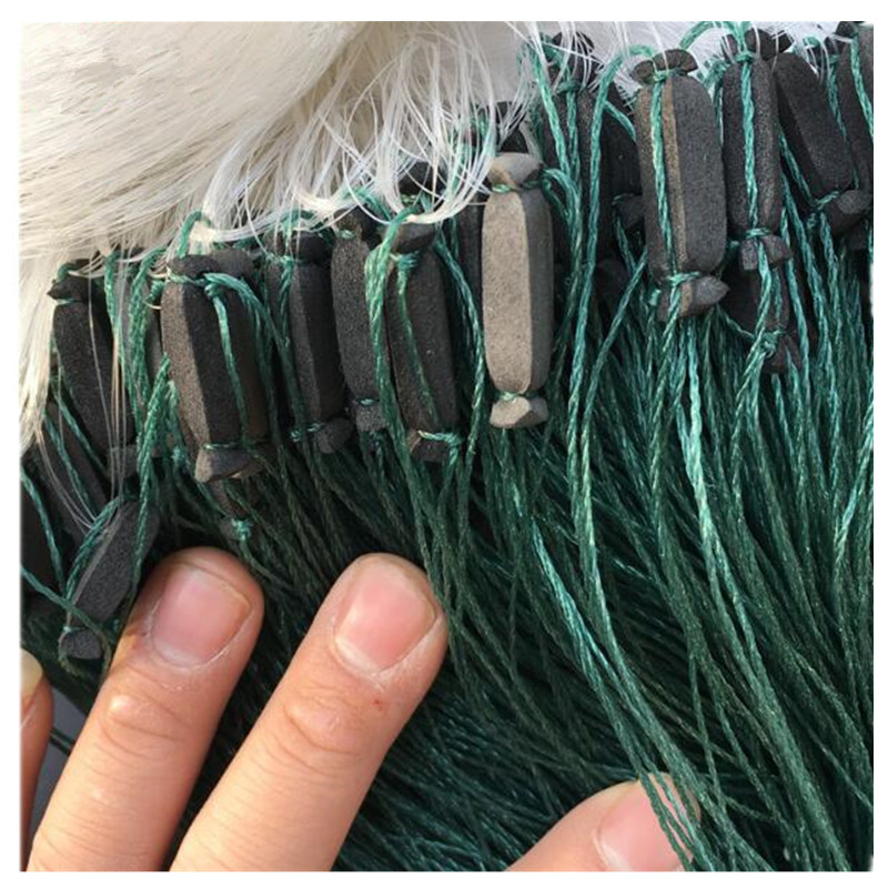 0 2mm line H2m L95m 3layer 5cm mesh gill net fishing network rede de pesca sink fishing net china outdoor fishing tool nylon net in Fishing Net from Sports Entertainment
