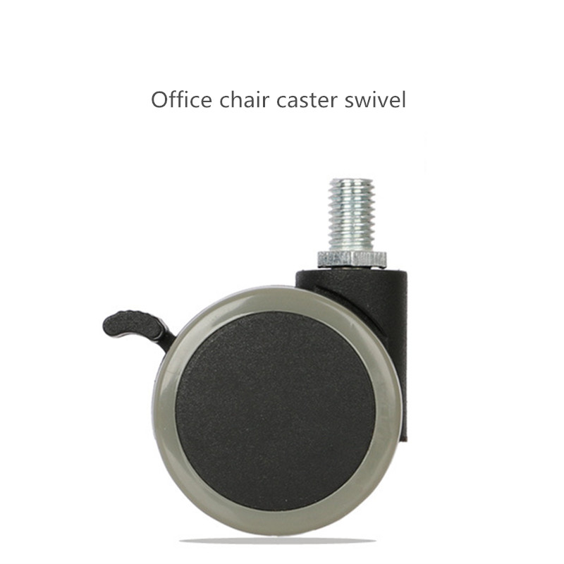Office chair casters Caster 2 inch heavy pulley wheels with brake boss computer chair mute high temperature 1 pcs 4 inch heavy duty high temperature caster wheel swivel casters with brake type caster