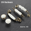 CW Hardware DECFAB 2pcs 3193 64mm 96mm 128mm European Crack Ceramic Handles For Cabinets Antique Bronze Wardrobe Pulls