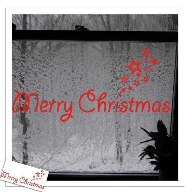 Merry Christmas Decal Vinyl Decal Words Door Decoration Holiday Christmas  Seasonal Housewares Xmas08