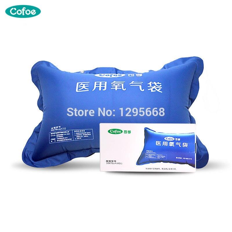 Saco De Oxigênio Medicinal Cofoe 42 ML/50 ML Casa PVC de Alta Capacidade Portátil Inalador De Oxigênio Oxigênio Travesseiro para Idosos e Pregant