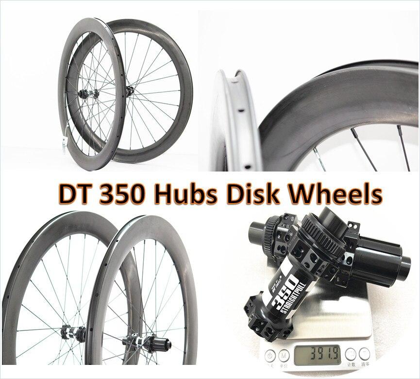 700C Estrada rodado Freio A Disco 38mm/45mm/50mm/60mm tubular/clincher wheels 25mm de largura jantes de carbono da bicicleta da estrada