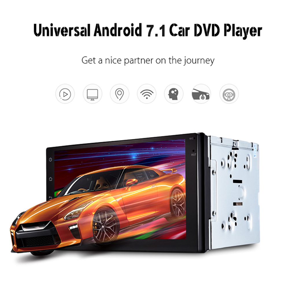 Support dab 2 din Android 7.1 Car (no)DVD player GPS+Wifi+Bluetooth+Radio+Quad Core 7 inch 1024*600 screen car stereo radio learning conversational english with student generated podcasts